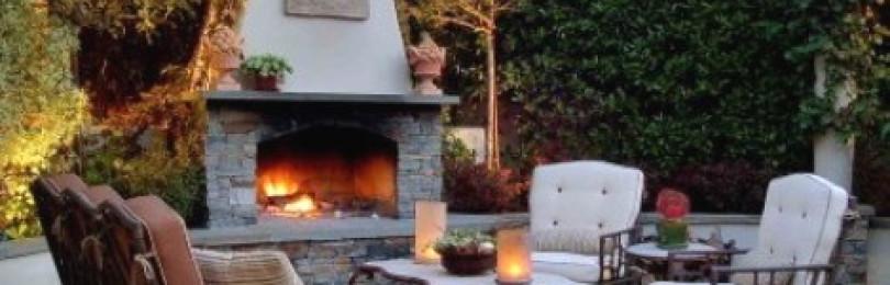 Садовый камин: подробно об устройстве, разновидностях, строительстве