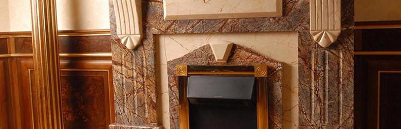 Подробно о мраморных каминах