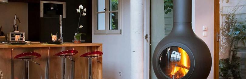 Подвесной камин: современное украшение Вашего дома