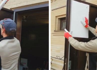 Как утеплить железную входную дверь своими руками