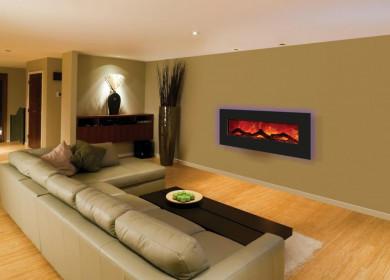 Обустройство уютной гостиной — использование электрокаминов