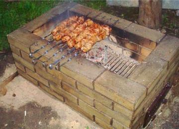 Садовая печь-мангал: строим своими руками