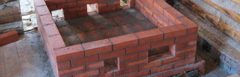 Виды фундаментов под печь и варианты устройства оснований