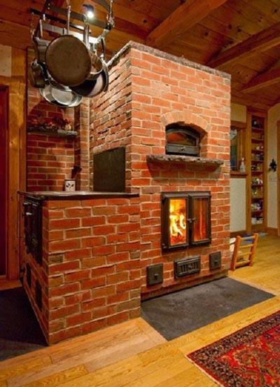 Кирпичная печь для отопления дома