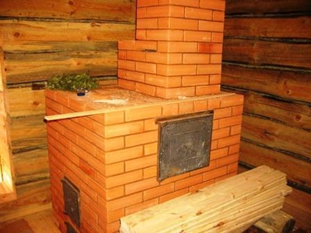 Кирпичная печка для бани