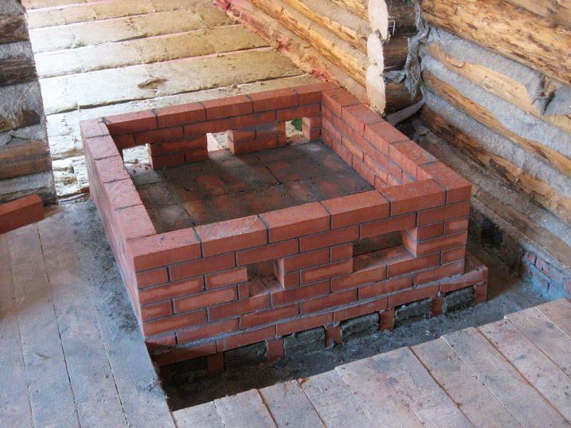 Основание под печь в деревянном доме