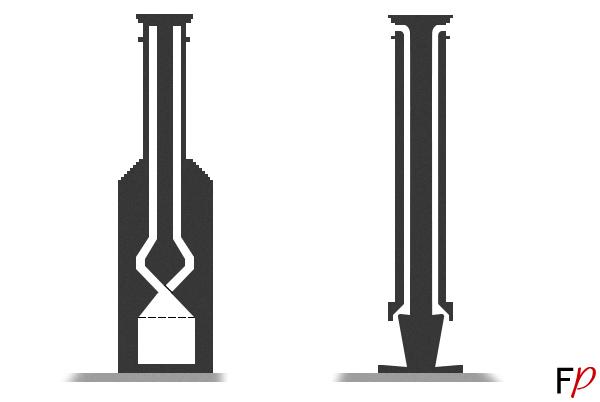 Схема дымохода двухстророннего камина