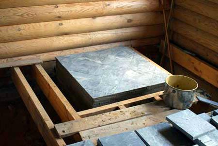 Фундамент под камин в доме