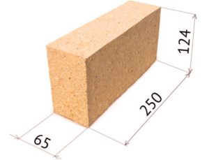 шамотный кирпич: размеры, характеристики