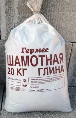 шамотная глина для печи, инструкция по применению