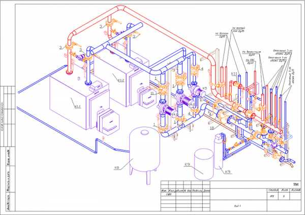 аксонометрическая схема отопления, что это такое?